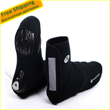 Fast/Free shipping! 1 Pair Hot Black High-top Cycling Shoe Care Kit, Sport Riding Bike Locking Shoes Covers Warm Waterproof(China (Mainland))