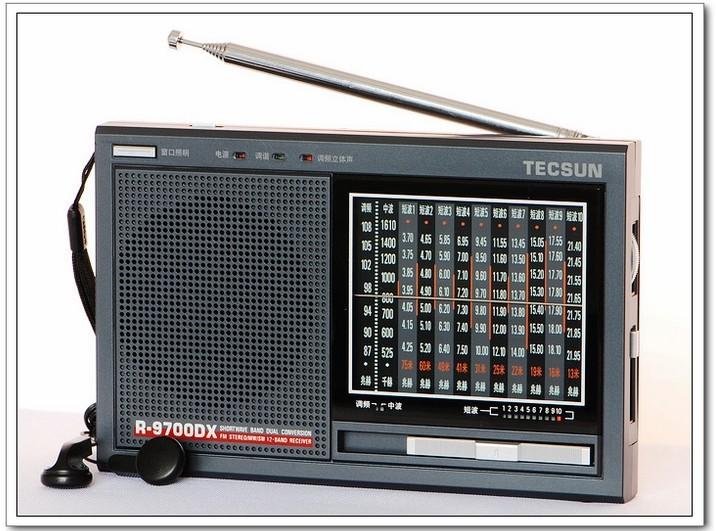 TECSUN R-9700DX Original Guarantee SW/MW High Sensitivity Dual Conversion World 12 Bands short wave Radio Receiver With Speaker(China (Mainland))