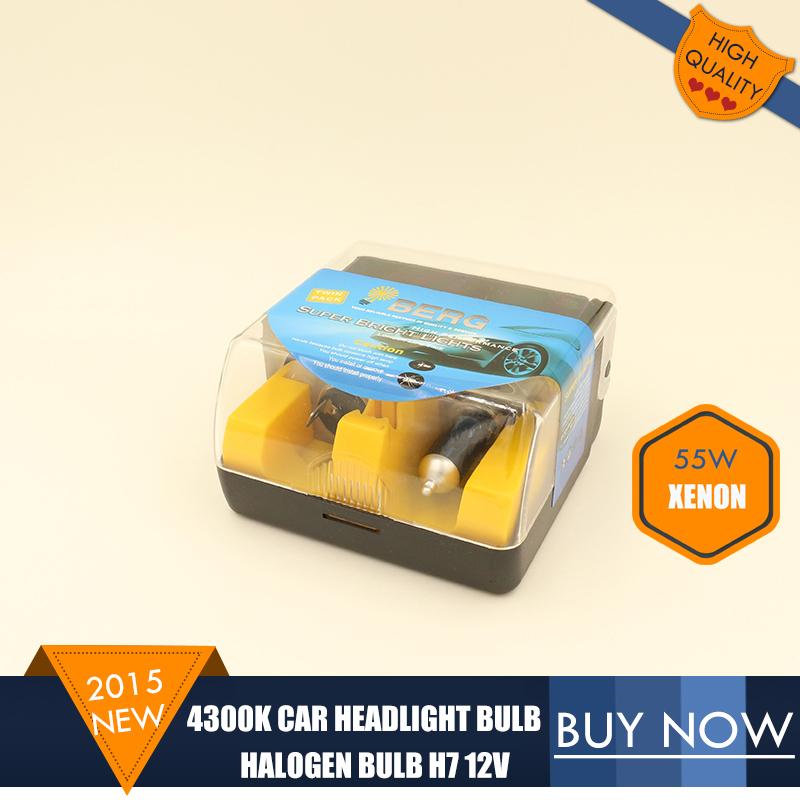 H7 4300K Car Headlight Bulb 12V 55W H7 Halogen Bulb Xenon Blue Crystal Vision Super White Light Bulb For Car External Light 2PCS(China (Mainland))