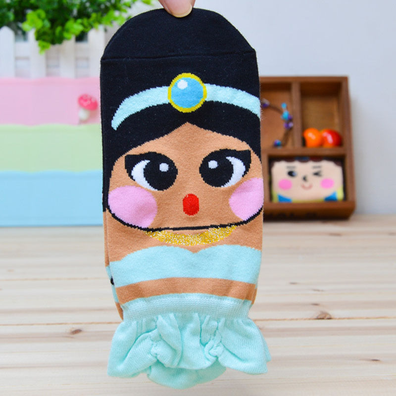 Korean Womens Retro Vintage Cute Cartoon Girls Cotton Ankle Socks Low Cut Socks Free Shipping