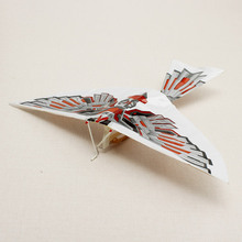 DIY Assembly Flapping Wing Flight Model Imitate Birds Aircraft Toys For Children Flying Kite Paper Airplane For boy's gifts(China (Mainland))