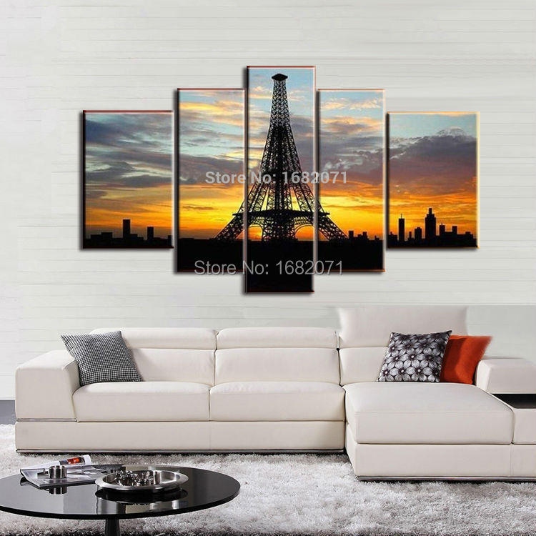 Most Popular Landscape Oil Paintings Paris Tower Oil Painting On Canvas Hand-painted Famous France Eiffel Tower Oil Paintings(China (Mainland))