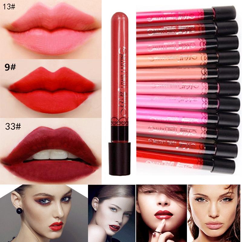 Waterproof Elegant liquid Lipstick matte smooth lip stick lipgloss Long Lasting lipgloss Sweet girl Lip lipstick to mouth Hot