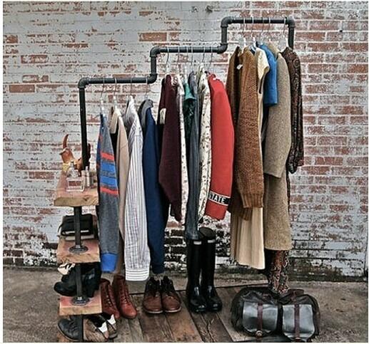 Retro suelo ropa percha de hierro gancho de madera para for Gancho de ropa en ingles