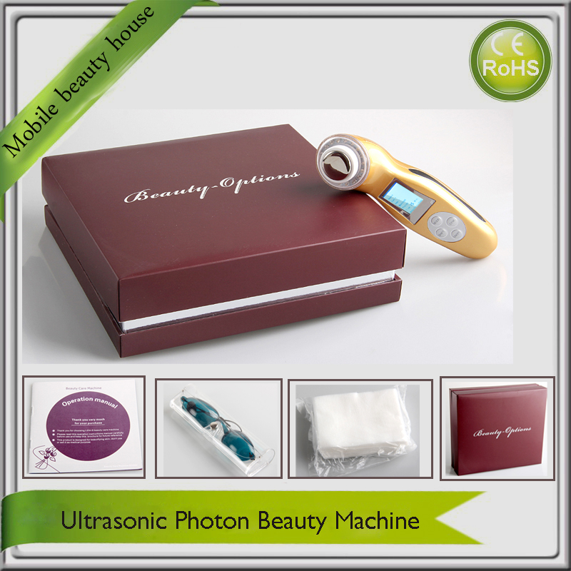 LCD Display Photonrejuvenation 3MHZ Ultrasonic 3 Colors Led Light Therapy Microcurrent Face Lift Beauty Devices<br><br>Aliexpress