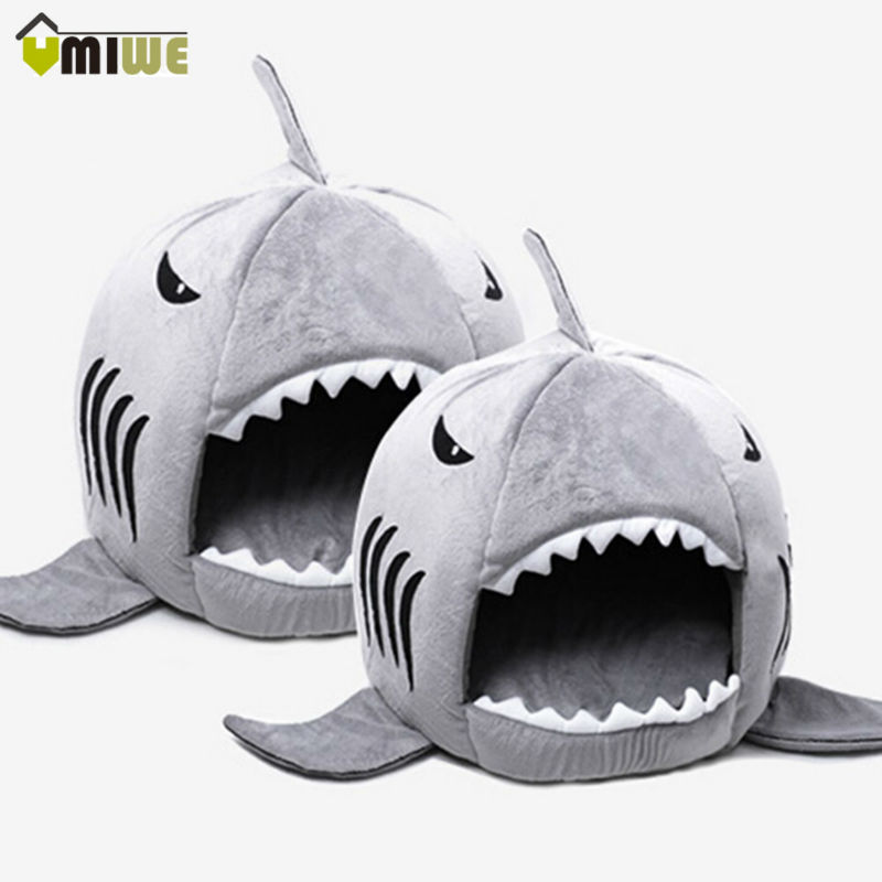 Umiwe Shark Warm Indoor Kitten Dog Cat Pet Sleeping Sofa Bed Puppy Pet House With Mat S/M Size For Dog Cat cama de para cachorro(China (Mainland))