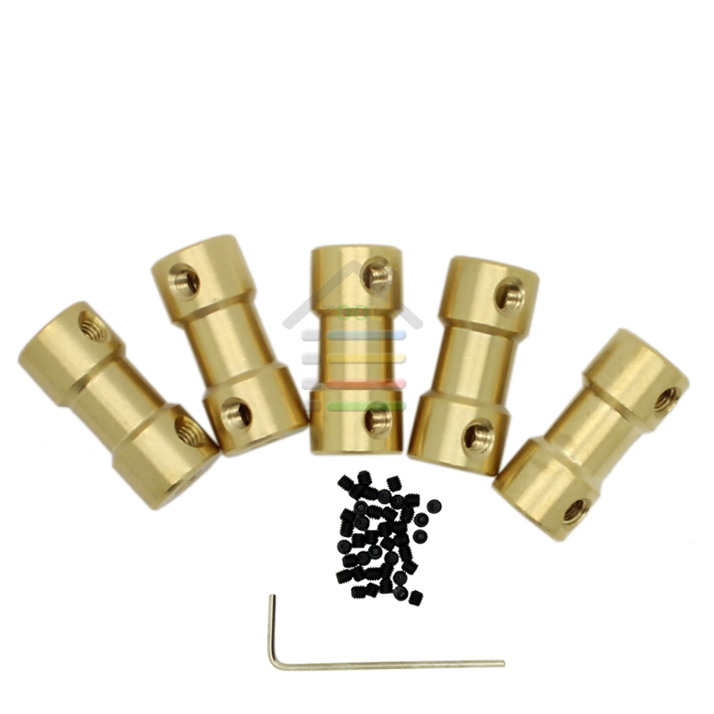 Best Price 10pcs Brass Shaft Motor Flexible Coupling Coupler length 20mm Hobby Model Hand Tool 2, 3 ,3.17, 4 ,5, to 3.17 mm(China (Mainland))