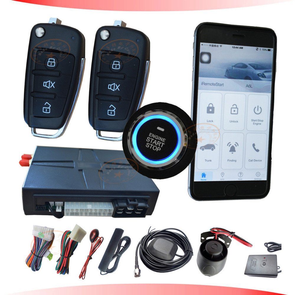 cardot Gsm car alarm is with GPS tracking location function mobile start stop car engine by SMS or app(China (Mainland))