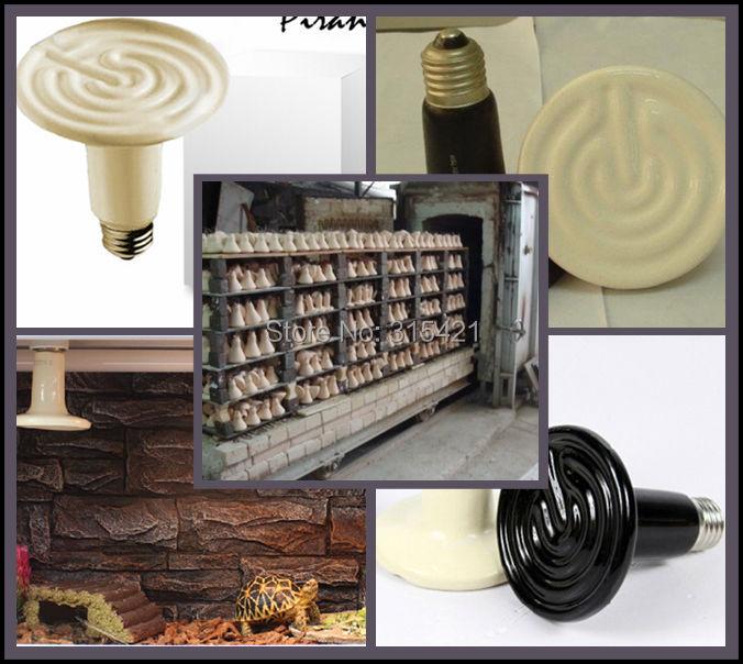 100Pcs/lot 100W Reptile pet appliances flat-type Infrared Ceramic heat lamp 110v/220v (Reptile/pet/amphibian/poultry) P402(China (Mainland))