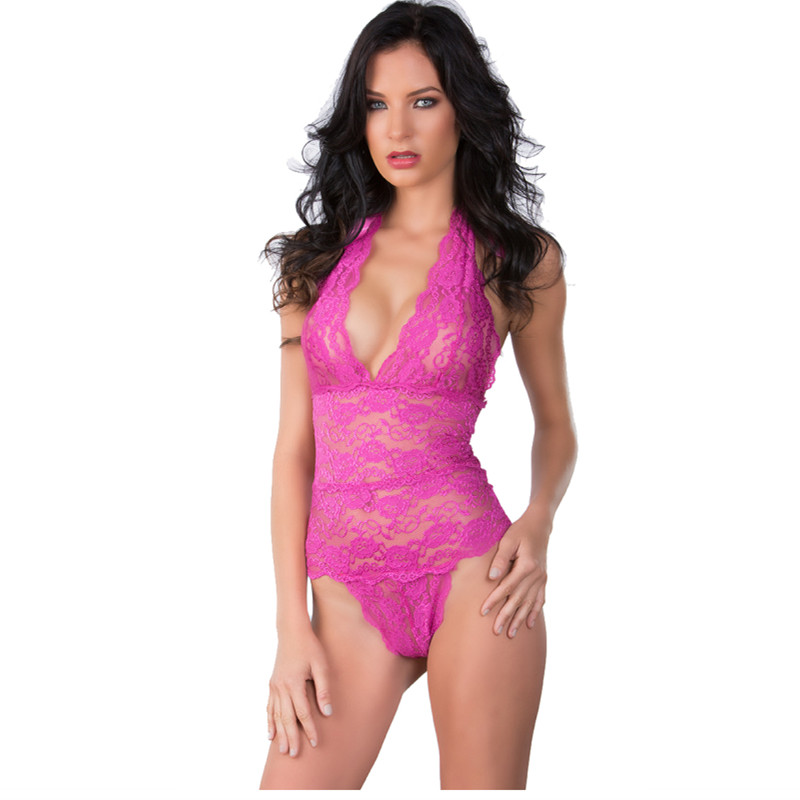 Sexy Lace Lingerie Women Nightgown Fashion Sleepshirt Hot Sale High Quality Underwear Free Shipping Black Red Pink S M L XL XXL(China (Mainland))