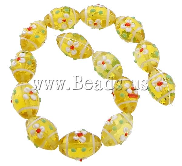 Free shipping!!!Bumpy Lampwork Beads,DIY,Jewelry DIY, Oval, yellow, 20x15mm, Hole:Approx 2mm, Length:11 Inch, 10Strands/Lot