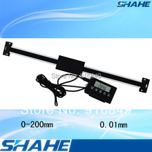 200mm high quality digital linear scale with remote display linear digital scale remote digital readout linear scales(China (Mainland))