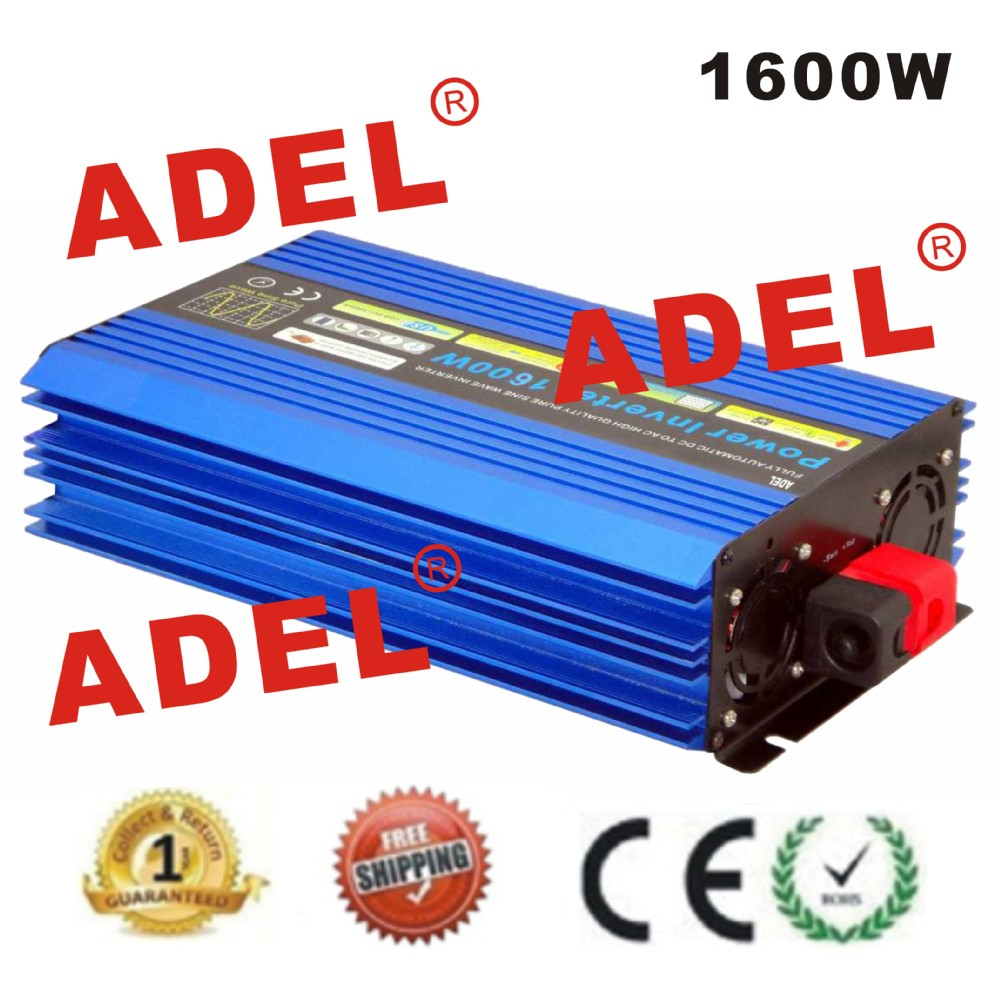 1600W Off Grid Solar inverter pure sine wave Power inverter with wireless Remote Controller CE ROSS APPROVED OEM FREE SHIPPING(China (Mainland))