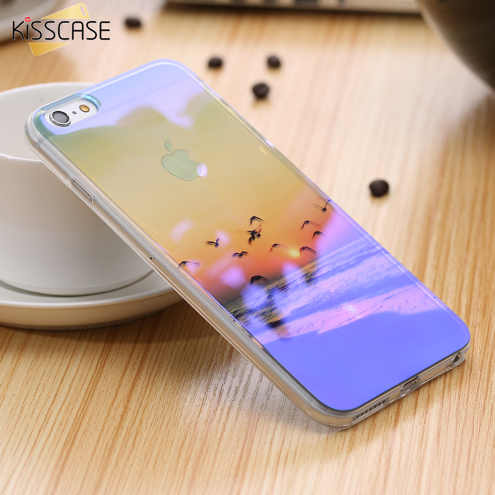 KISSCASE Luxury Mobile Phone Case For iPhone 6 6S iPhone 6 Plus 6S Plus Fashion Art Pattern Blue-Ray Clear Thin Cover i6 6S Case(China (Mainland))