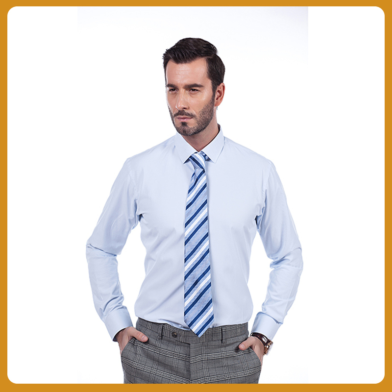 buy slim fit solid light blue bespoke business shirt. Black Bedroom Furniture Sets. Home Design Ideas