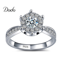 White gold filled rings for women fine CZ diamond jewelry wedding engagement bague femme accessories top quality ring gift DR093