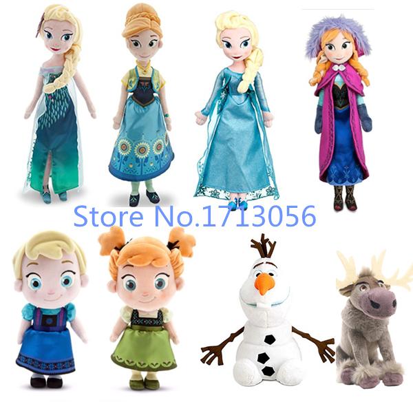 New Arrival Fever 40cm 50cm boneca Doll Princess Anna and Elsa Dolls for girls Toys Children gift doll plush olaf Sven Elsa Anna(China (Mainland))