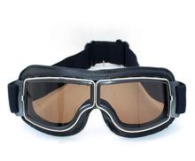 NEW Hot Aviator Pilot Cruiser Cycling Bicycle Motorcycle Goggles Glasses Eyewear Black Frame Smoke lens