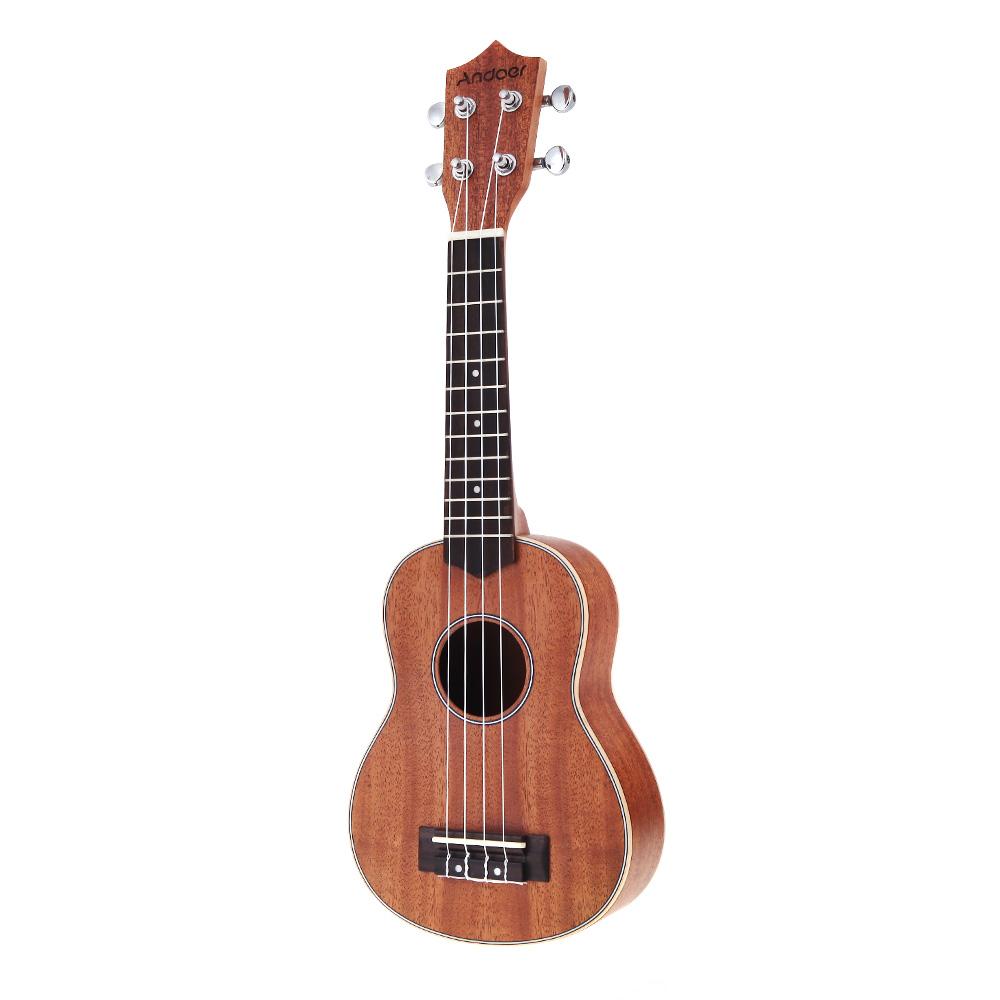 Andoer 21'' Compact Ukelele Ukulele Hawaiian Mahogany Aquila Rosewood Fretboard Bridge Soprano Stringed Instrument 4 Strings(China (Mainland))