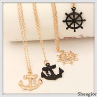 Fashion Personality Bow and arrow target gold Chain Necklace women sweater pendants necklaces Free shipping