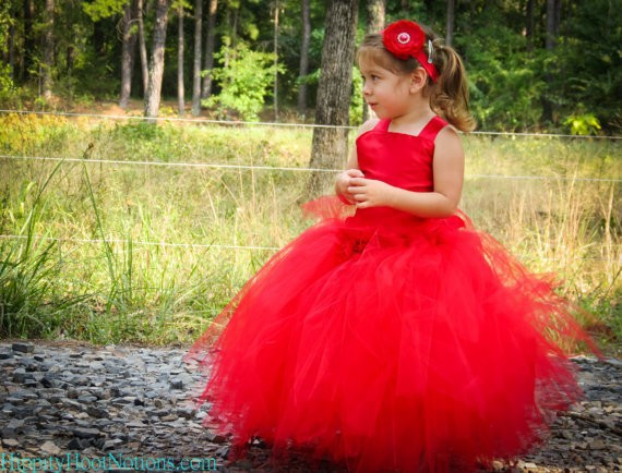 Red Lace-up Ball-gown Flower Girl Dresses for Weddings Tulle Spaghetti-straps Pageant Dresses for Little Girls Vestido de Longo(China (Mainland))