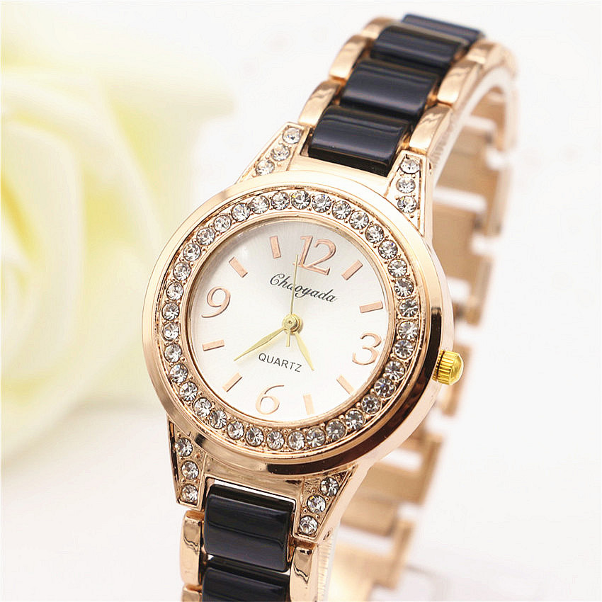 2016 High Quality Women Dress Watch Brand Luxury Fashion Casual Quartz Watch Women Stianless Steel Bling Women Rhinestone Clock(China (Mainland))