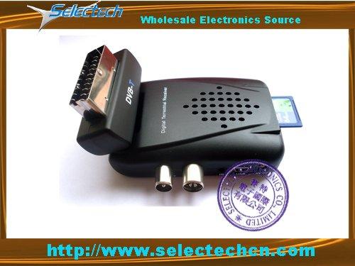 Free shipping Mini sd mpeg2 Digital Terrestrial DVB tv Receiver with PVR SCART HEAD SE-DVB-805(China (Mainland))