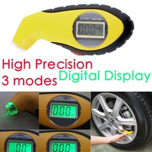 New 5.0-100PSI LCD Digital Tire Tyre Air Pressure Gauge Tester Tool For Auto Car Motorcycle PSI, KPA, BAR hot selling(China (Mainland))