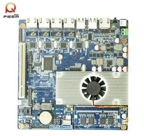 fanless 4 rj45 ports motherboard for Network Security Server Router with onboard atom dual core d2550