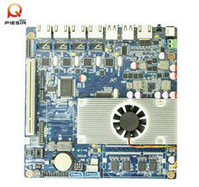 fanless 4 rj45 ports motherboard for Network Security,Server,Router with onboard atom dual core d2550,4 Lan network board
