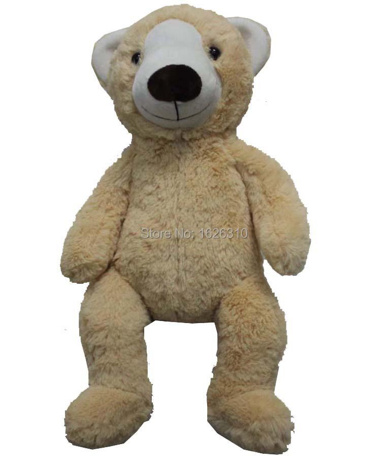 light brown forehead plush stuffed bear huggable bear washable sit stand teddy bear ainaml(China (Mainland))