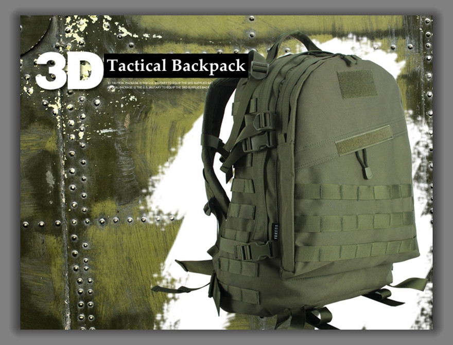 5 Color Men Women Outdoor 3D Military Army Tactical Backpack Molle Camping Hiking Trekking Camouflage Bag(China (Mainland))