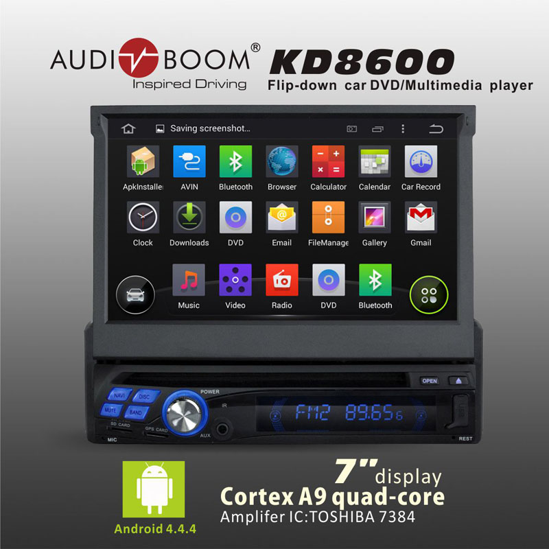 "Free shipping 7"" Android4.4 4core IGO Map car radio DVD player with detachable auto Flip down panel AM/FM MP3 Bluetooth GPS(China (Mainland))"
