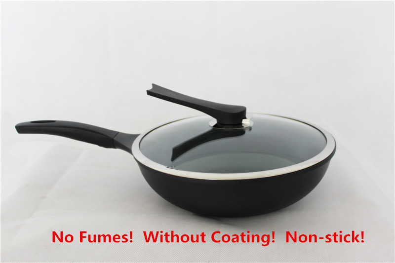 No fumes nonstick wok wok gas cooker cooking frying pan shipping(China (Mainland))