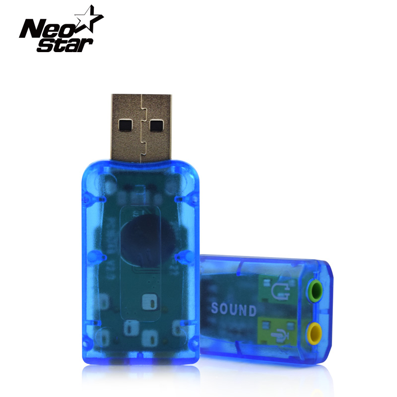 3D Audio USB Sound Card 3.5mm Usb Adapter 5.1 External Interface Mic Speakermic headphone Jack Stereo For Laptop PC Computer(China (Mainland))