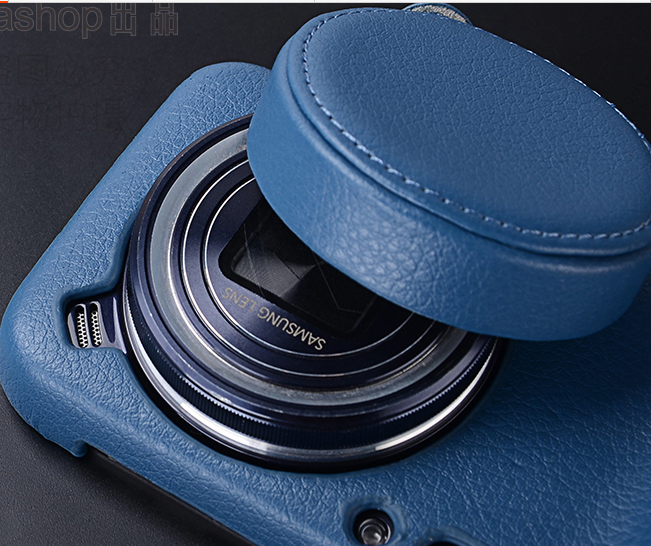 High quality Leather case for samsung galaxy s4 zoom c1010 sm - c101 Lens Cover with Lens cap(2 in 1)+Screen protector