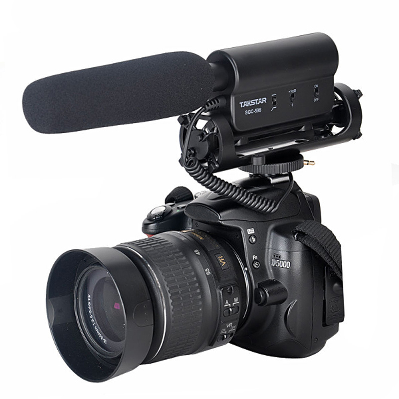 SGC-598 Photography Interview Shotgun MIC Microphone for Nikon <font><b>Canon</b></font> <font><b>DSLR</b></font> Camera