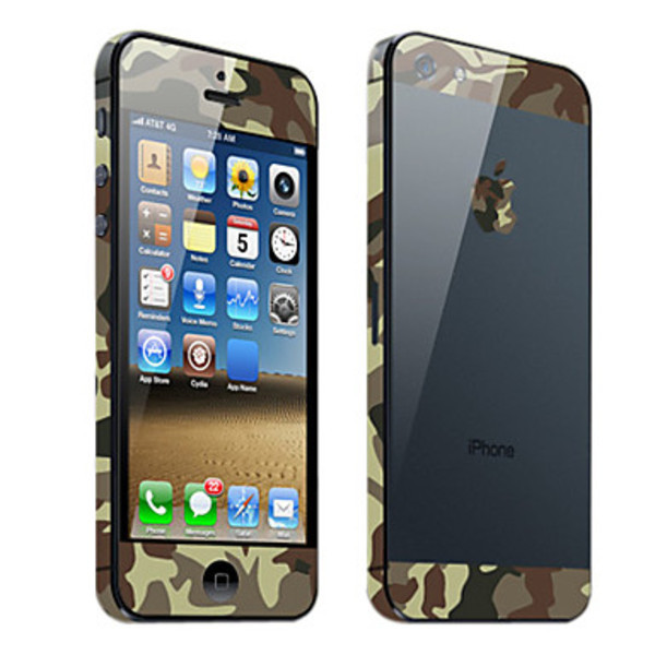 Dreamstar Camouflage Pattern Body Skin Guard for iphone 5(China (Mainland))