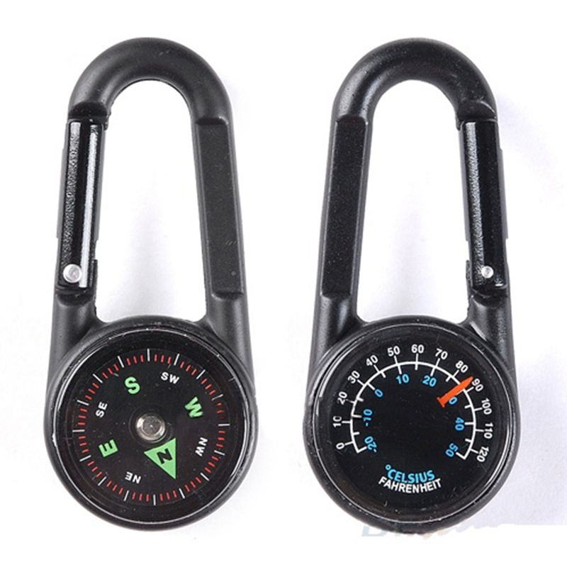 1 pc Thermometer Guide Needle Randomly Keychain Compass Multi-function Authentic sporting goods(China (Mainland))
