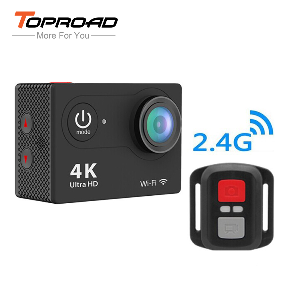 Ultra 4K HD WIFI Mini Camcorders Sports DVR 1080P FHD 2.0 LCD 170 Lens Waterproof 30m Helmet Action Cameras with Remote Control(China (Mainland))