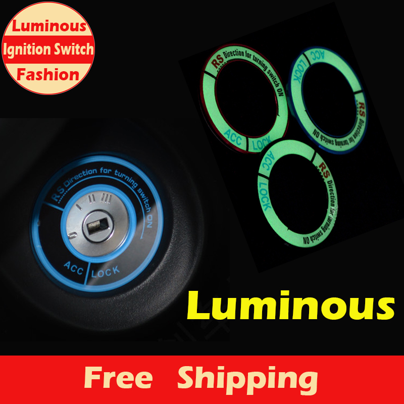 A012 Fashion & New Luminous Ignition Switch Cover for HONDA City,Civic,Ciimo,Accord,Fit,CR-V Car Interior Accessories(China (Mainland))