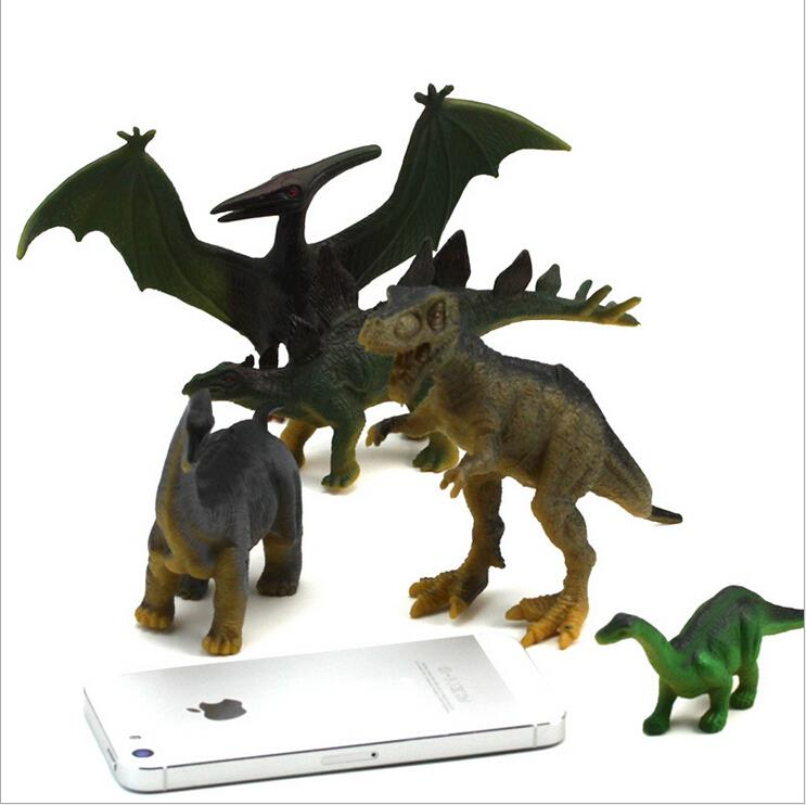 anime action figure toys jurassic world dragon/dinosaur toys PVC model about 17cm 8 pieces/set gift for baby/friends/birthday(China (Mainland))