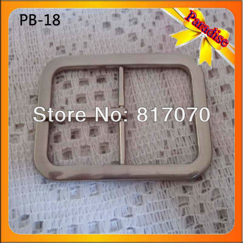 (PB-18) factory make alloy nickel 40mm metal fashion pin belts buckles for men and lady(China (Mainland))