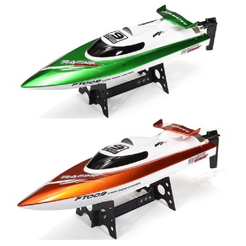 Free Shipping Feilun FT009 2.4G 4CH RC Racing Boat Water Cooling System Self-righting 30km/h High Speed 360 Degree Flips