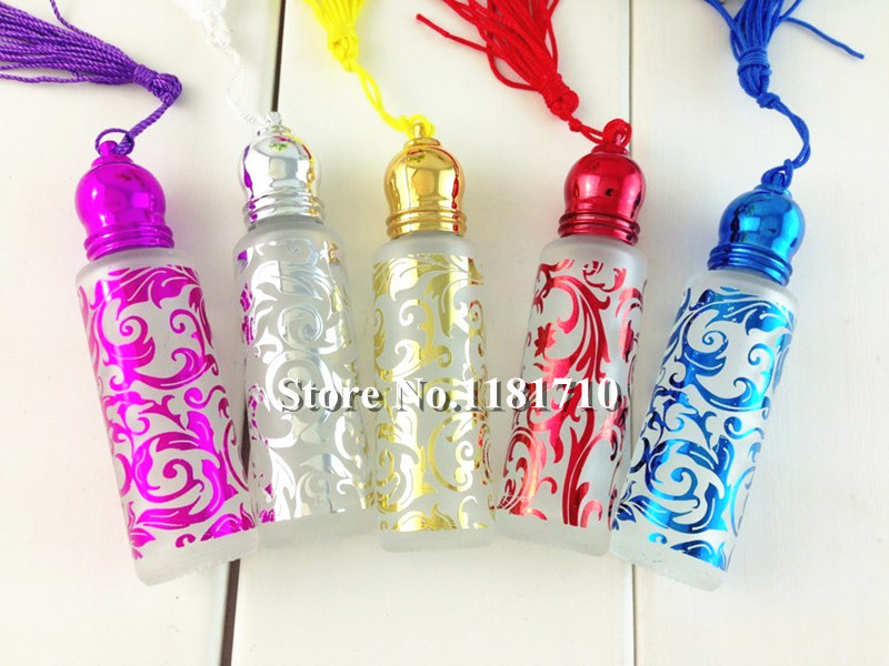 Free Shipping 10ml Refillable Perfume Glass Roll On Bottle For Parfume and Essential oil(China (Mainland))