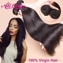 """Queen Hair Products Brazilian Virgin Hair Straight 3Pcs Brazilian Straight Hair Weave Bundles 8""""-30"""" Straight Human Hair Bundles(China (Mainland))"""