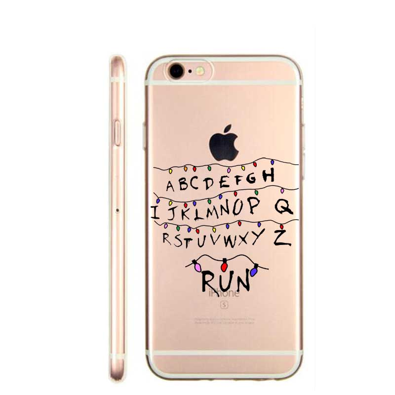 Phone Cases For iPhone SE 5 5S 6 6S 6Plus 7 7Plus Soft silicone TPU Phone Cases Stranger Things Christmas Lights Back Ca(China (Mainland))