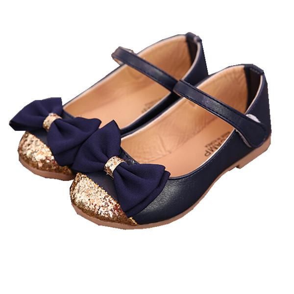 Kids Shoes Girls Sandals 2016 Bowtie Kids Sandals Girls Dress Shoes Autumn Spring Children Shoes Girls PU Leather Ballet Flats(China (Mainland))