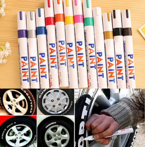 Multicolor 12 Color Indelible Tyre Permanent Paint Graffiti Pen Tire Metal Outdoor Marker Z(China (Mainland))