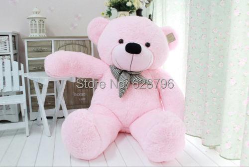 Hot Sale Stuffed Giant 95CM Big Pink Plush Teddy Bear Huge Soft 100% Cotton Doll Toy(China (Mainland))
